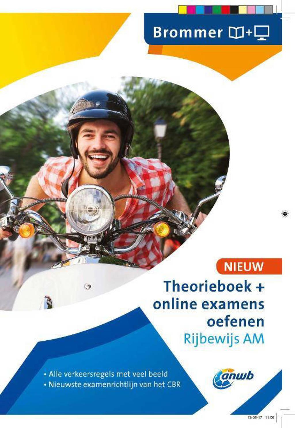 Theorieboek+online examens oefenen Rijbewijs AM - Brommer - ANWB