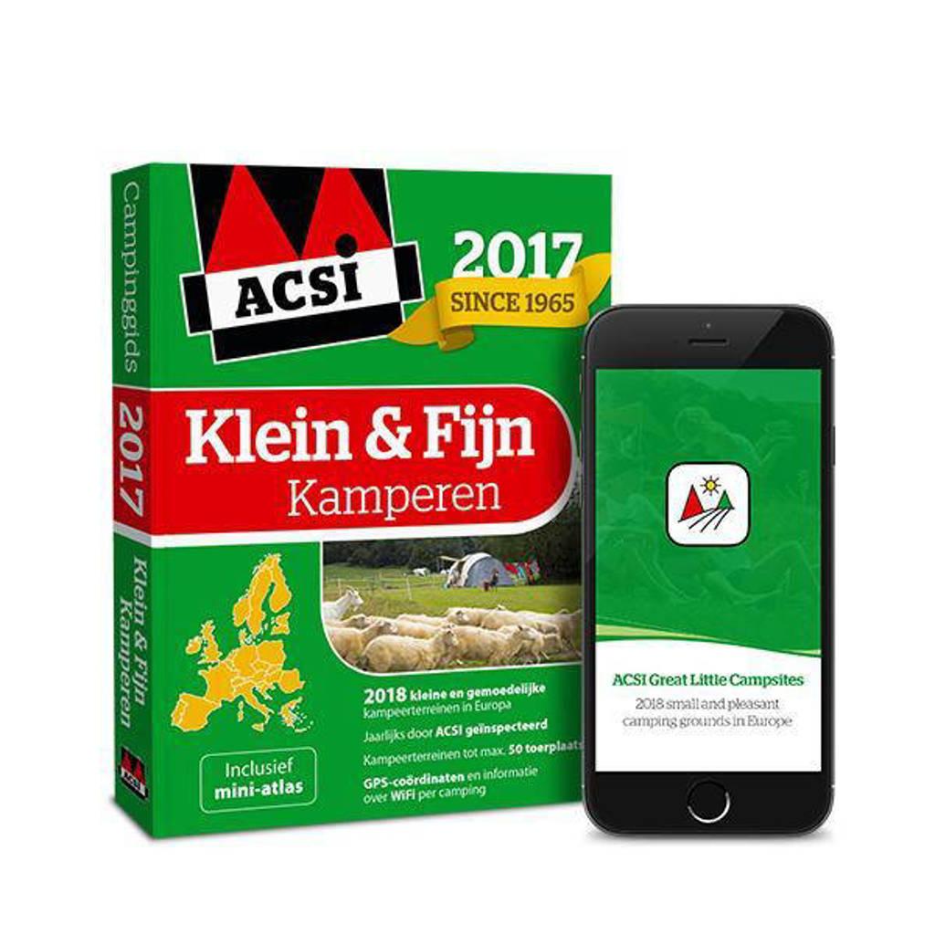 ACSI Campinggids: ACSI Klein & Fijn Kamperen Gids 2017 + app