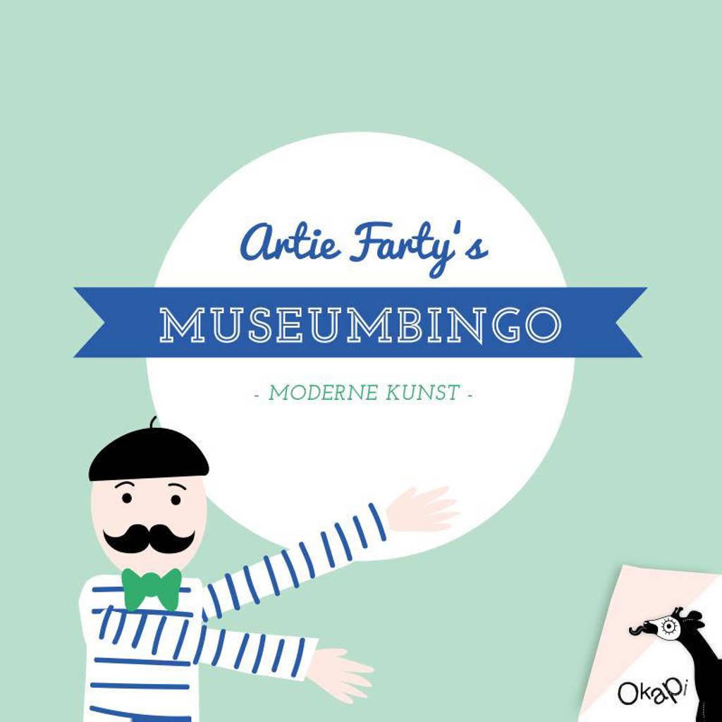 Okapi: Artie Farty's museumbingo moderne kunst (set van 5) - Nicoline Slingelandt-Asselbergs en Maren Lösing