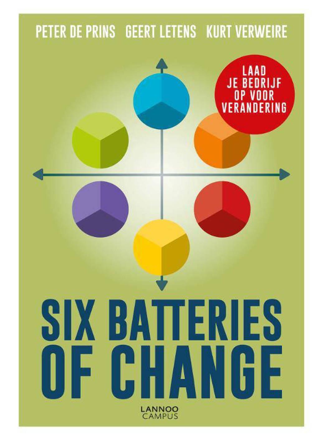 Six Batteries of Change - Peter De Prins, Geert Letens en Kurt Verweire