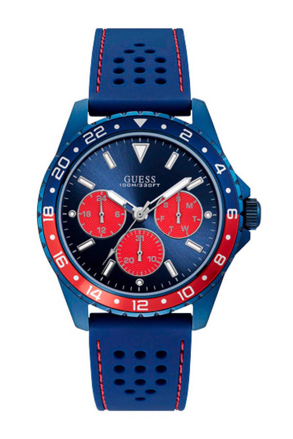 GUESS horloge - W1108G1, Blauw