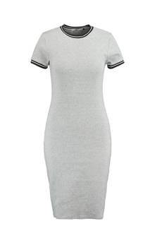 gestreepte jurk Dibby lichtgrijs
