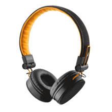 Fyber on-ear headset zwart/oranje