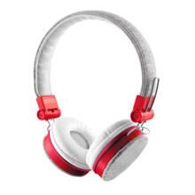 Fyber on-ear headset grijs/rood
