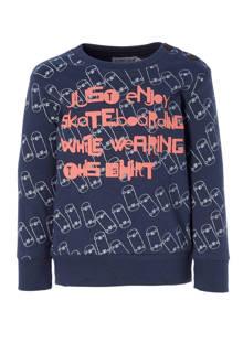sweater met print marine