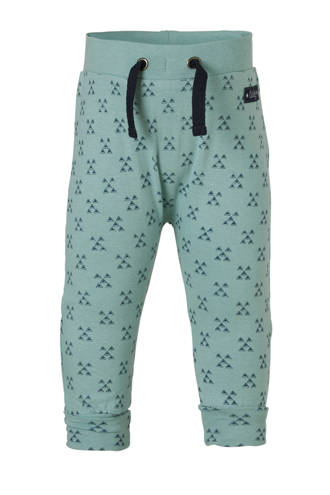baby broek met all over print mint