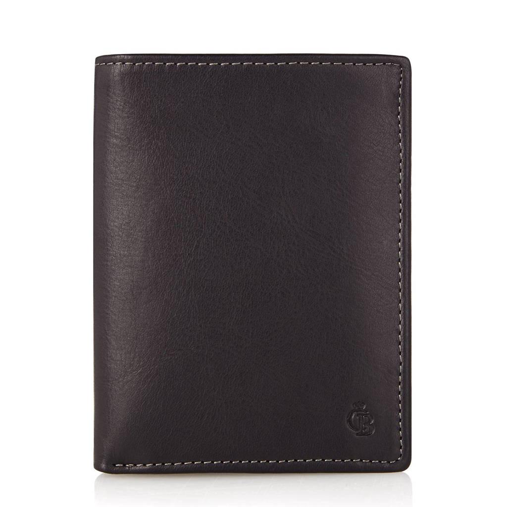 Castelijn & Beerens Canyon RFID leren portemonnee (9 pasjes), Zwart