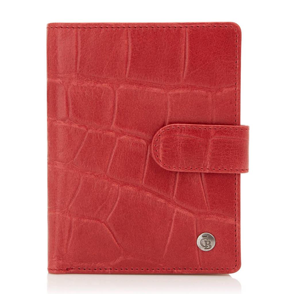 Castelijn & Beerens Coco RFID leren portemonnee (6 pasjes), Rood