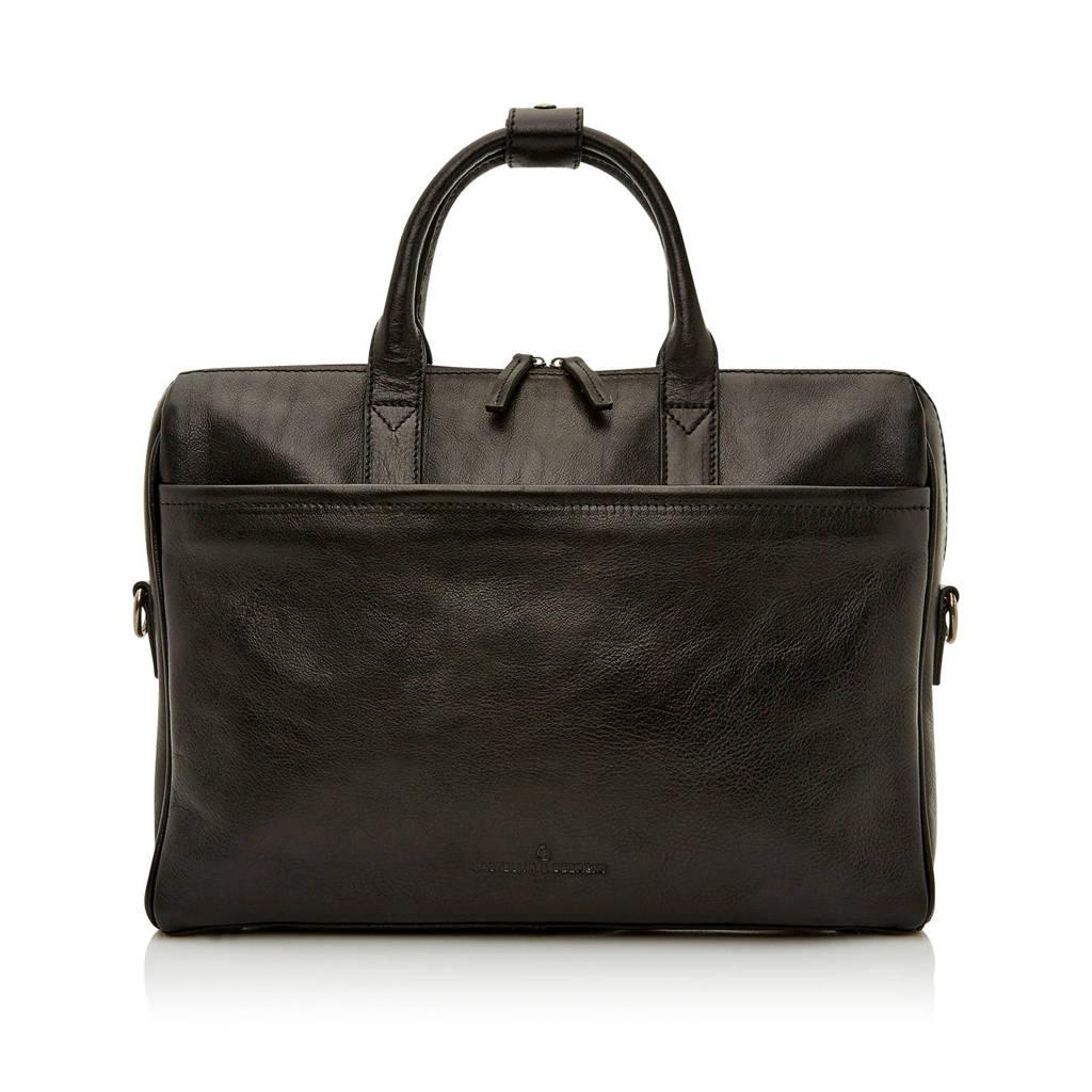 Castelijn & Beerens  15,6 inch Nova Business Bags leren laptoptas, Zwart