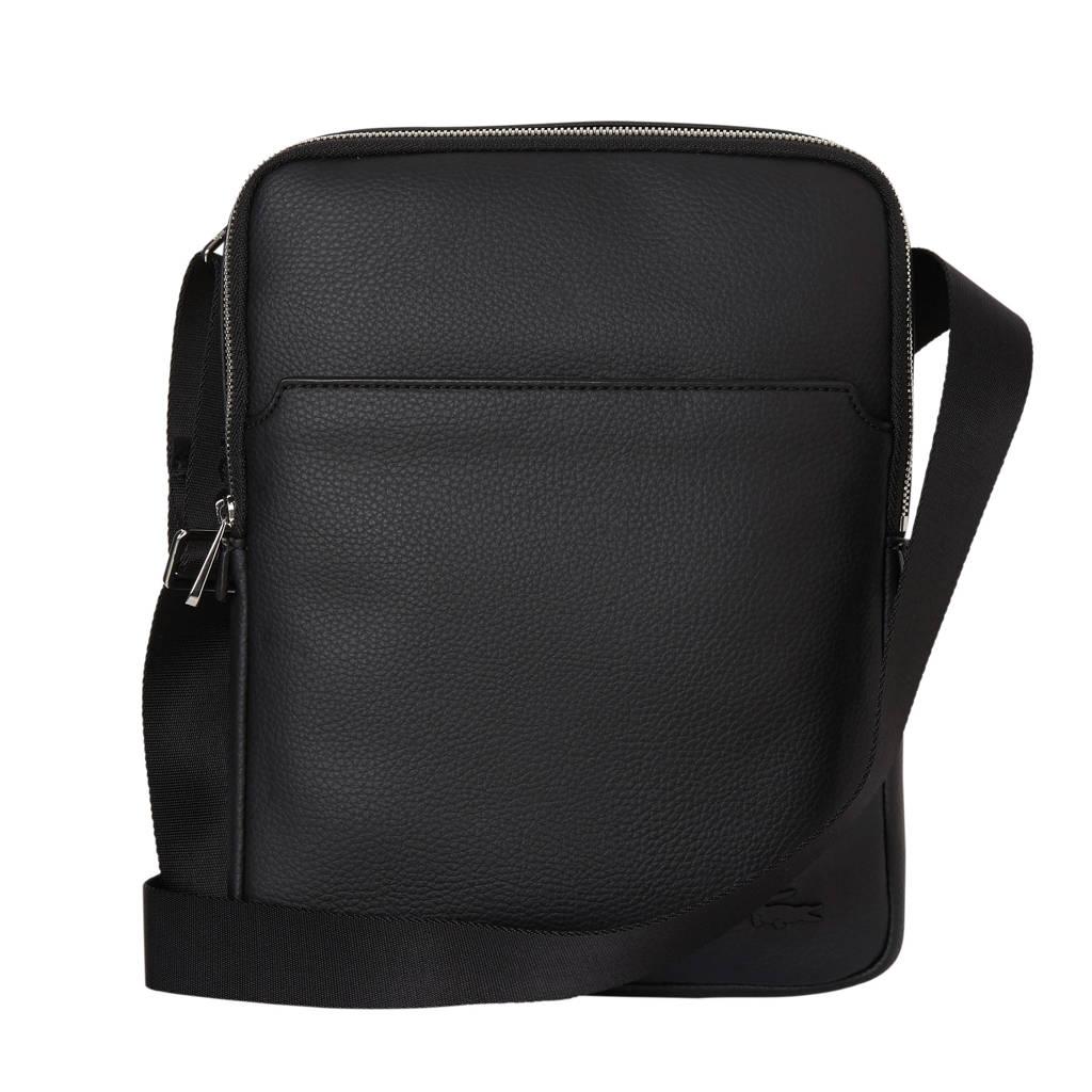 Lacoste  medium crossbody tas, Zwart