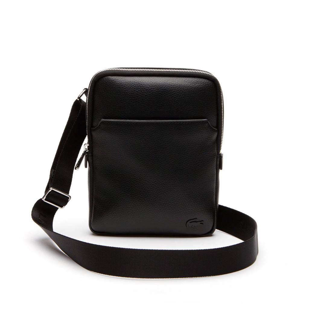 Lacoste  small crossbody tas, Zwart