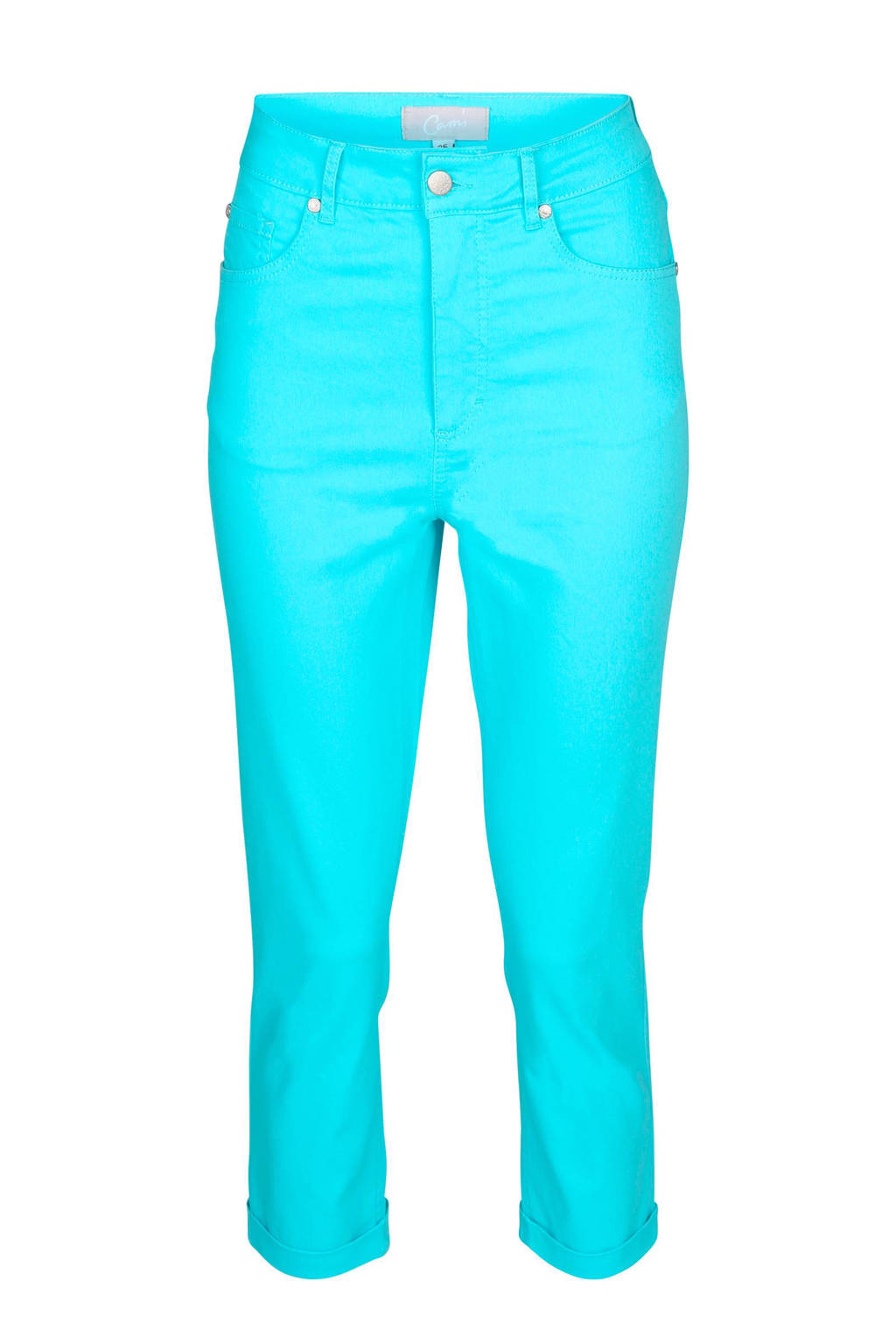 Cassis high waisted push-up capri, Turquoise