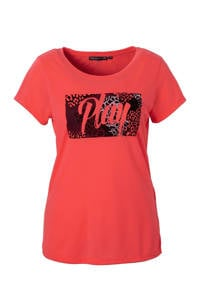 Only Play / sport T-shirt neon roze