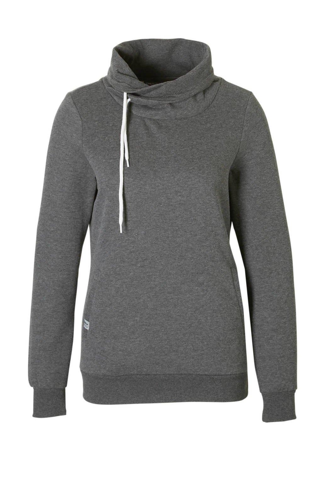 Only Play sportsweater grijs, Grijs melange