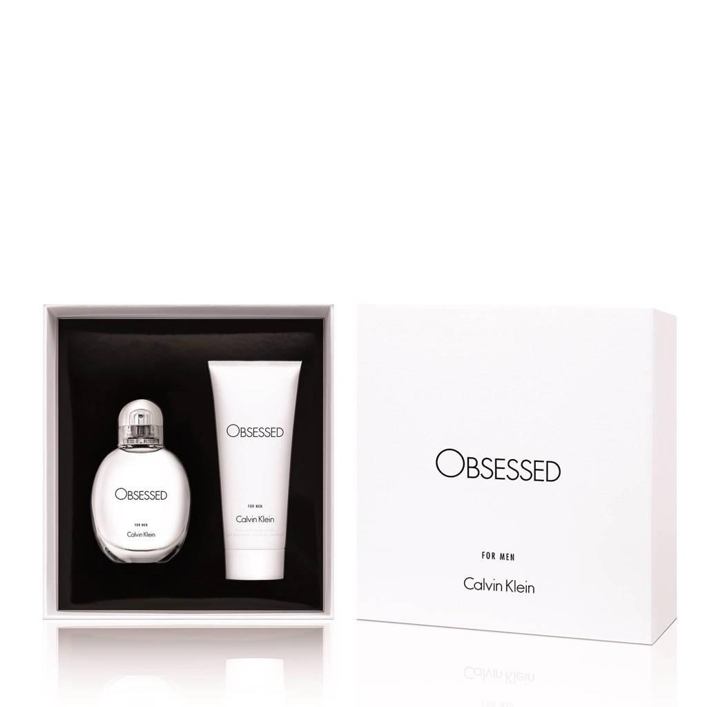 Calvin Klein Obsessed for Men geschenkset  Obsessed for Men edt 75 ml + bodywash 100 ml