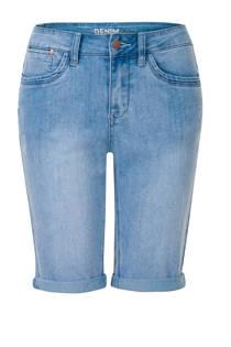 Miss Etam Regulier straight fit jeans bermuda lichtblauw (dames)