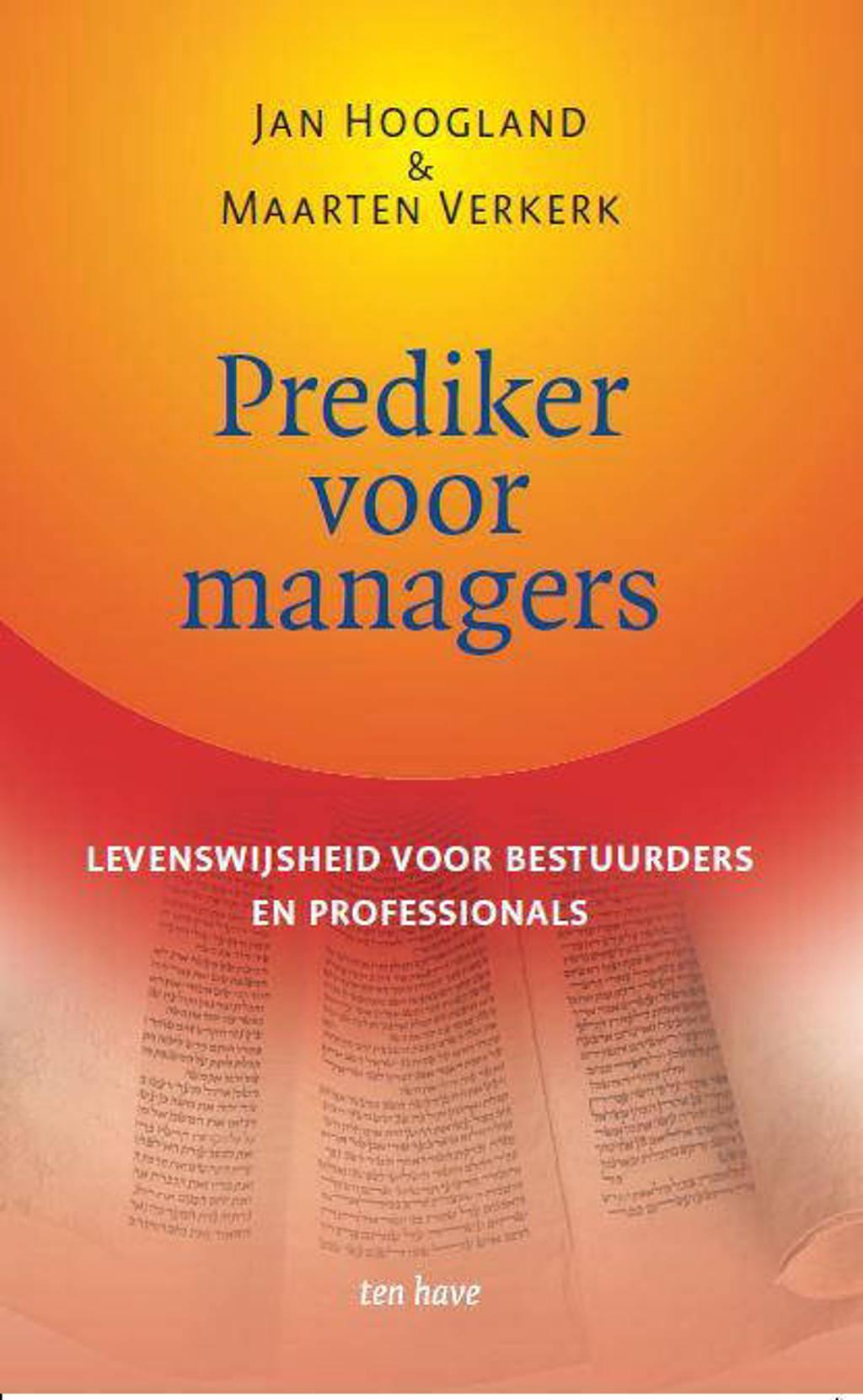 Prediker voor managers - Jan Hoogland en Maarten Verkerk