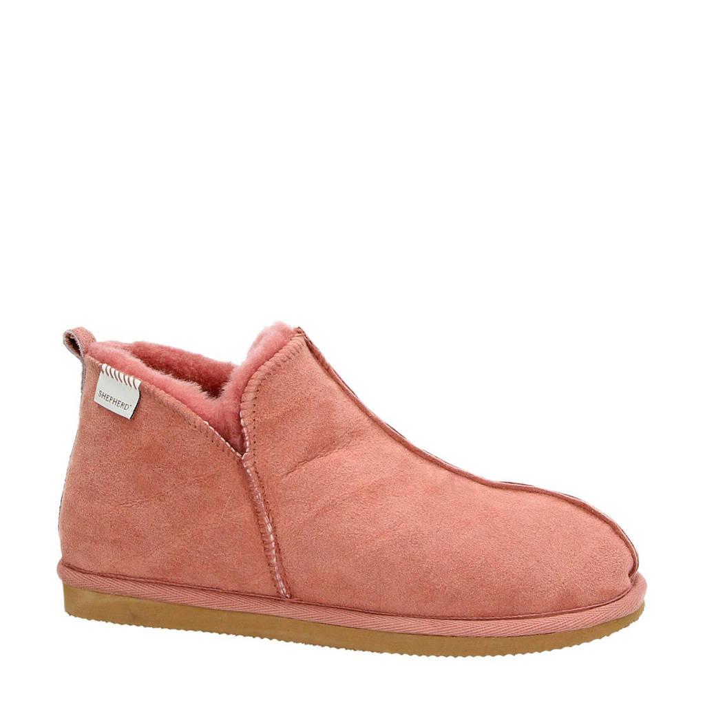 Shepherd suède pantoffels Annie roze, Oudroze