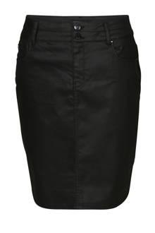 gecoate rok zwart