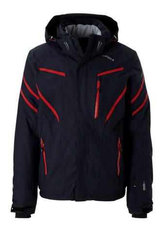 ski-jack donkerblauw/rood