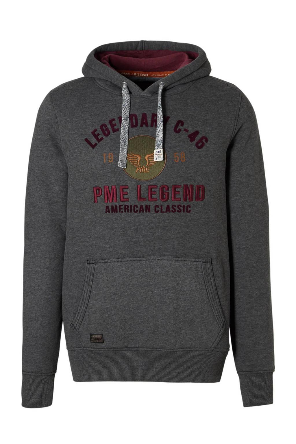 PME Legend hoodie met print grijs, Grijs