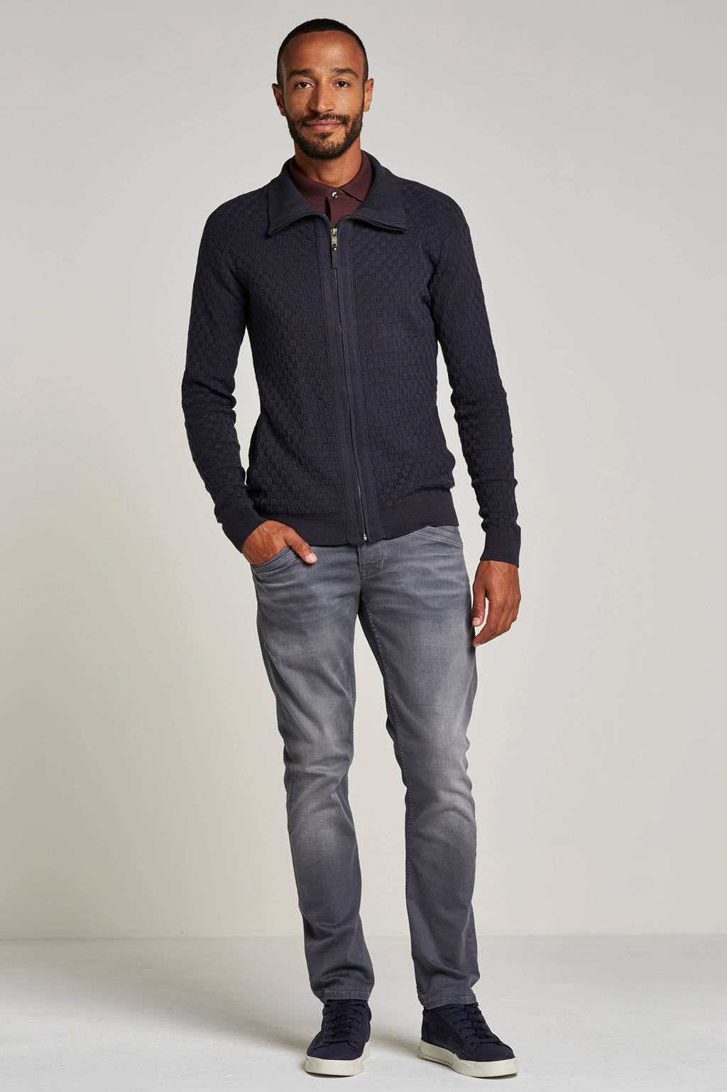 PME Legend straight fit jeans Curtis, Grijs