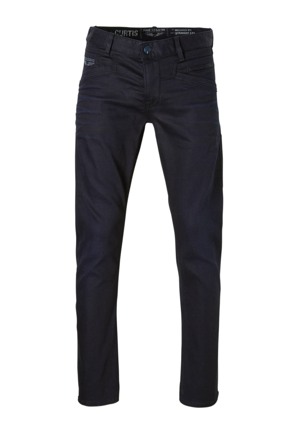 PME Legend straight fit jeans Curtis zwart, Donkerblauw