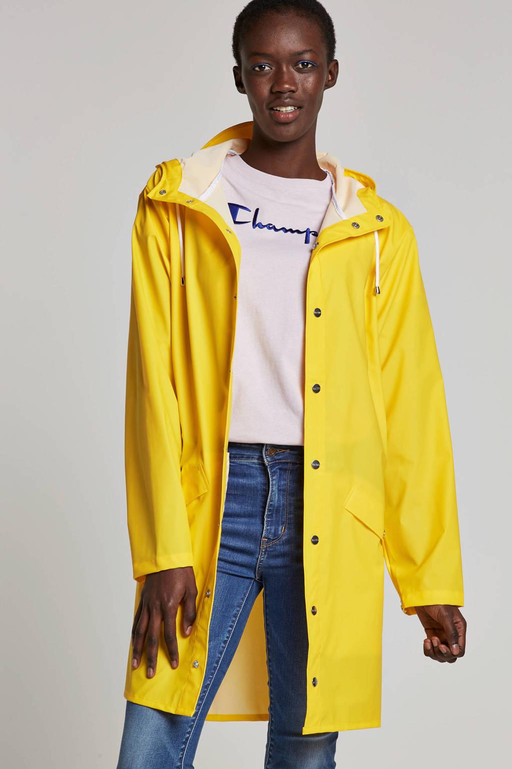Rains long jacket regenjas, Geel