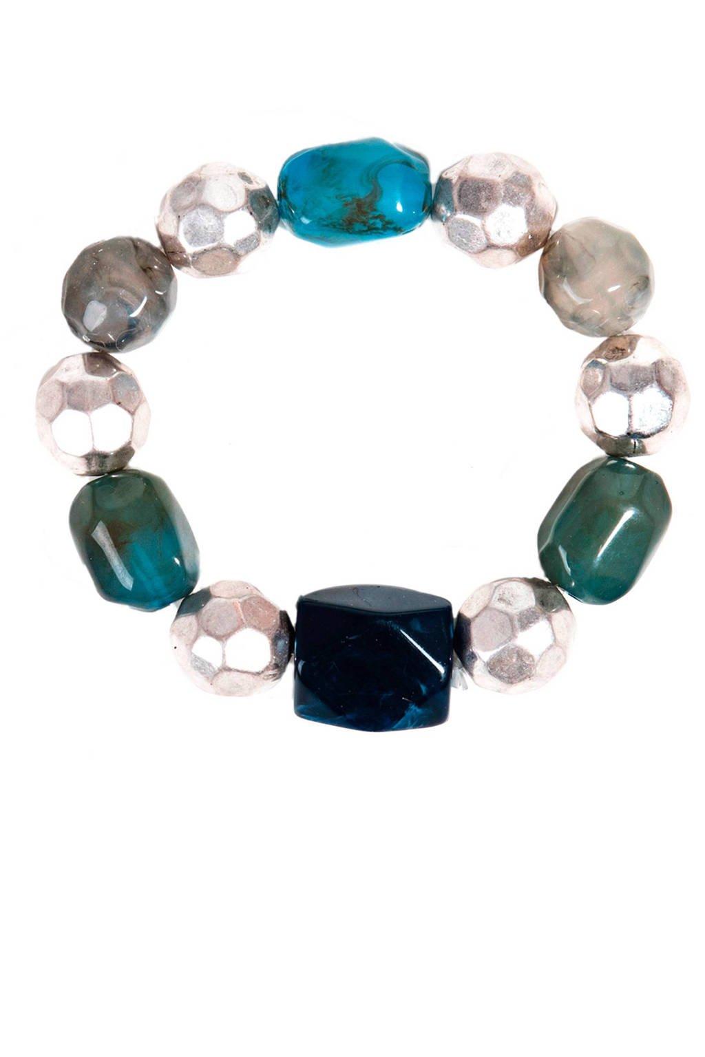 Parfois armband, Zilver/turquoise