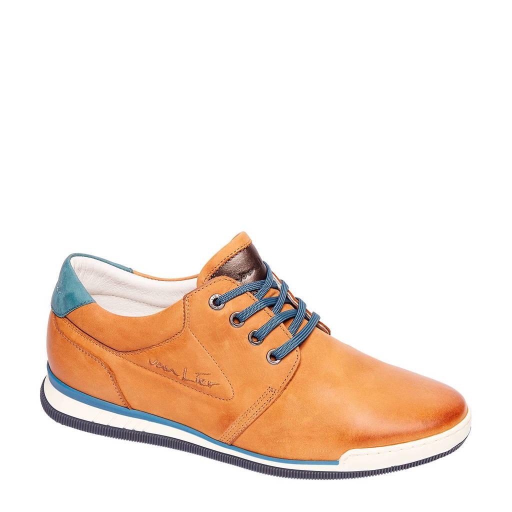 0413e25efdb44a Van Lier nubuck sneakers, Cognac/blauw
