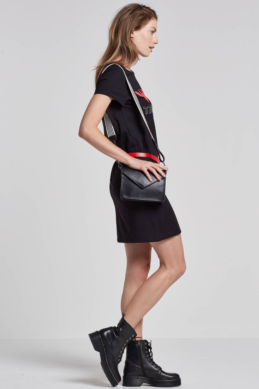 shirt jurk zwart