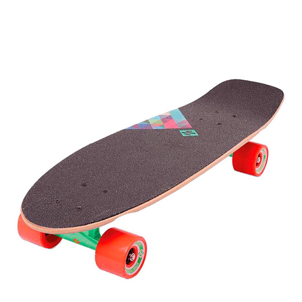 StreetSurfing Rocky M cruiser skateboard, Groen/oranje