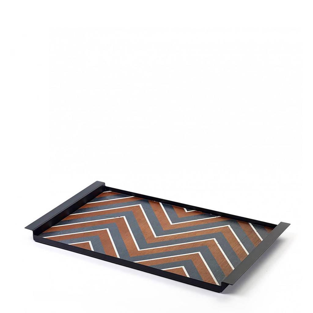 Serax dienblad Grint (54x30 cm), Zwart/bruin/wit