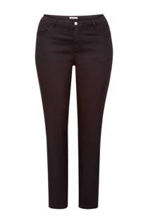 Miss Etam Plus slim fit broek zwart 32 inch