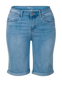 Miss Etam Plus straight fit jeans bermuda lichtblauw (dames)