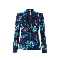 product afbeelding Miss Etam Regulier slim fit blazer met bloemen donkerblauw (dames)