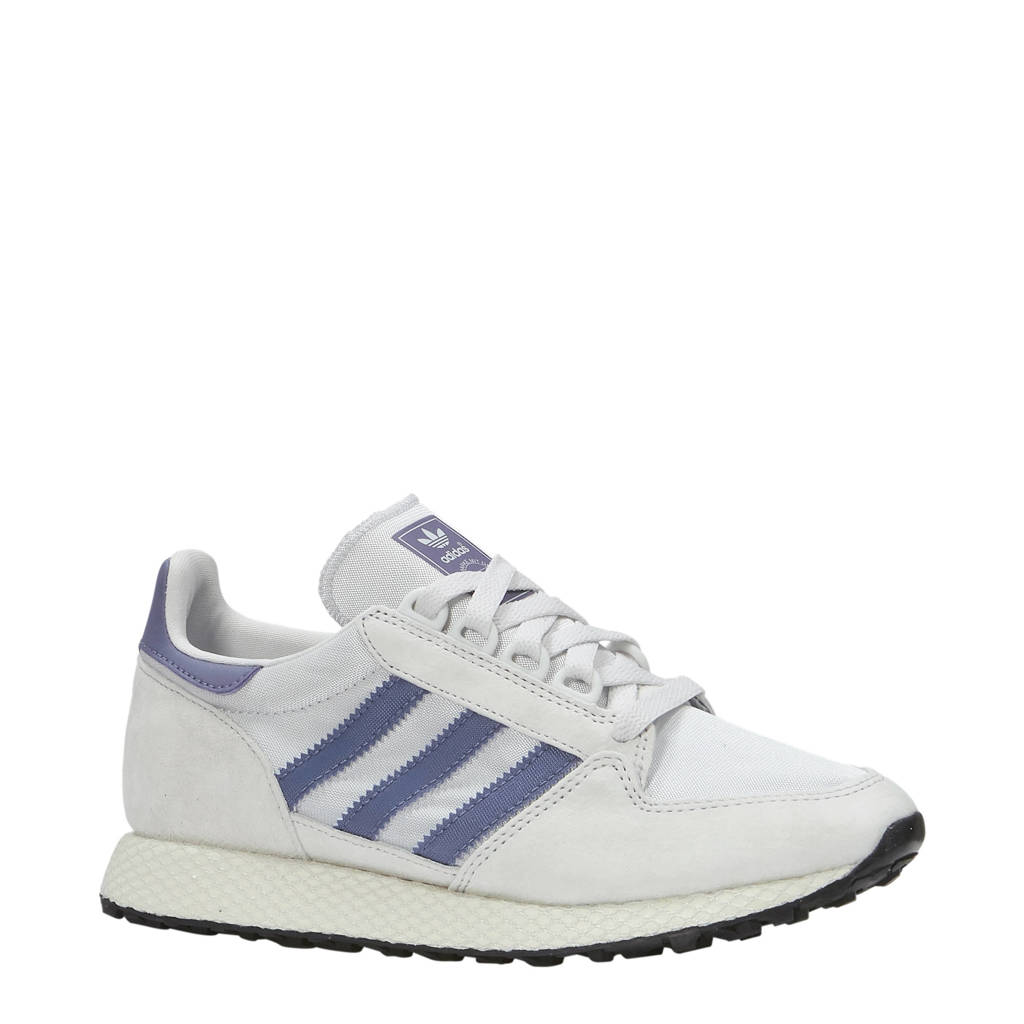 adidas originals  Forest Grove W suède sneakers, Wit/blauw