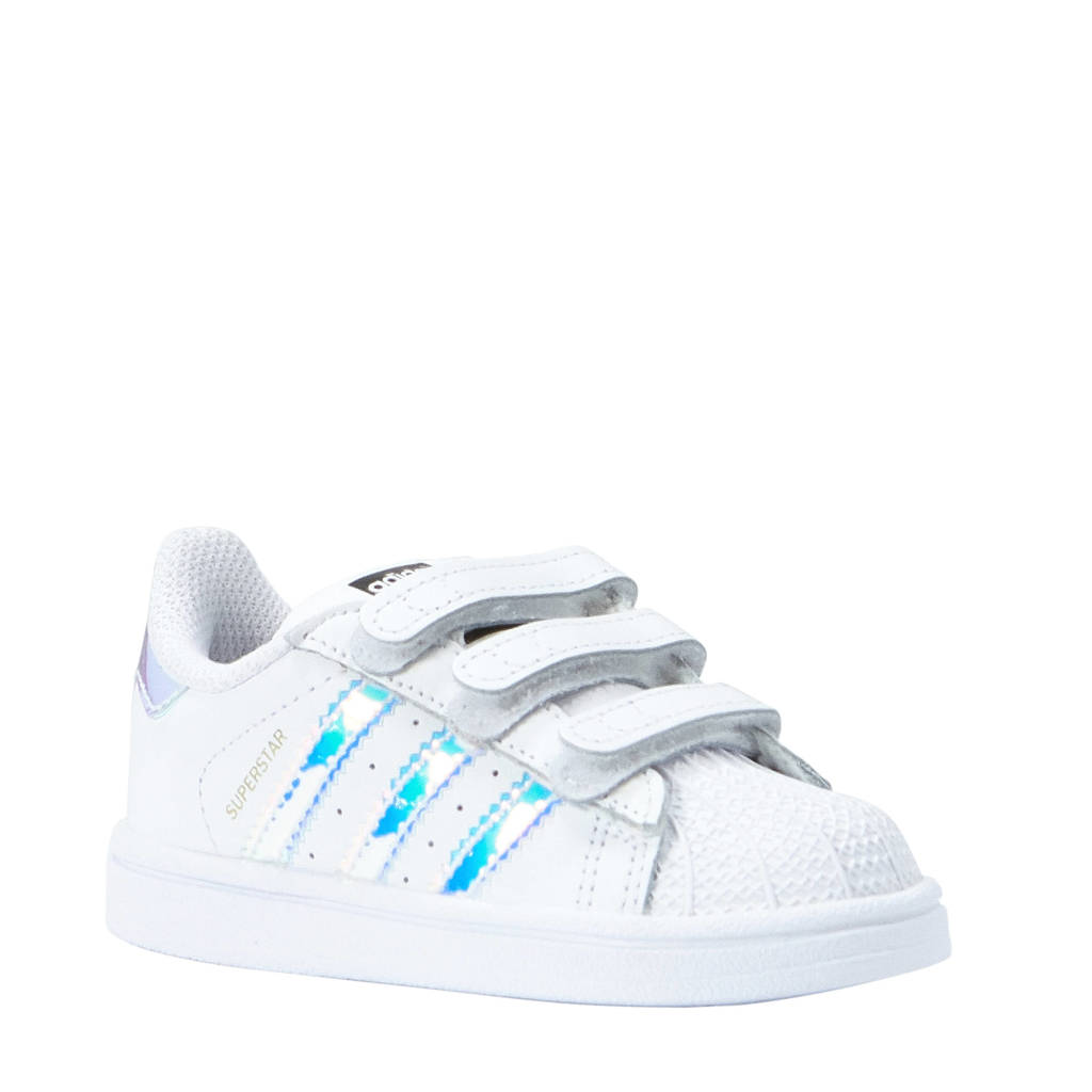 adidas Originals Superstar CF I sneakers, Wit/glimmend