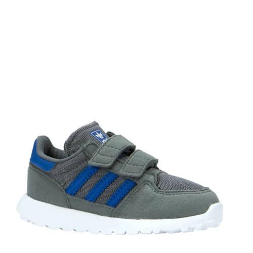 Forest Grove CF I suède sneakers grijs-blauw