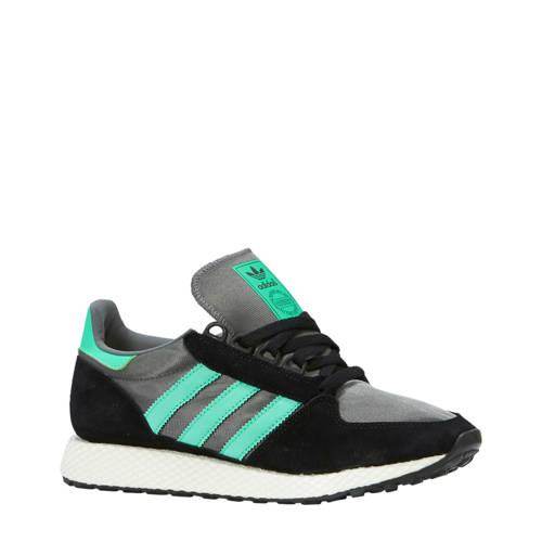 Forest Grove suède sneakers zwart-groen