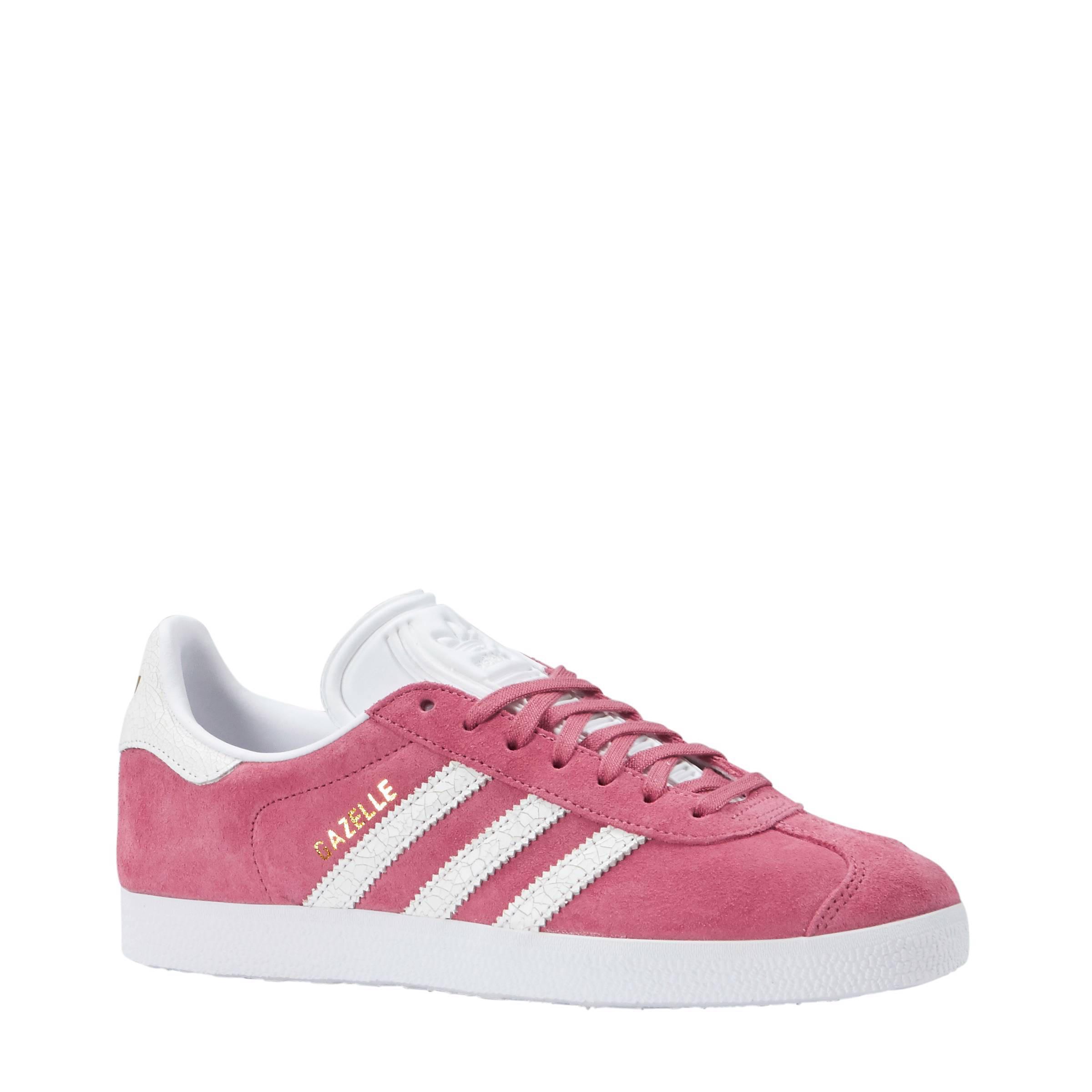 adidas gazelle roze wit