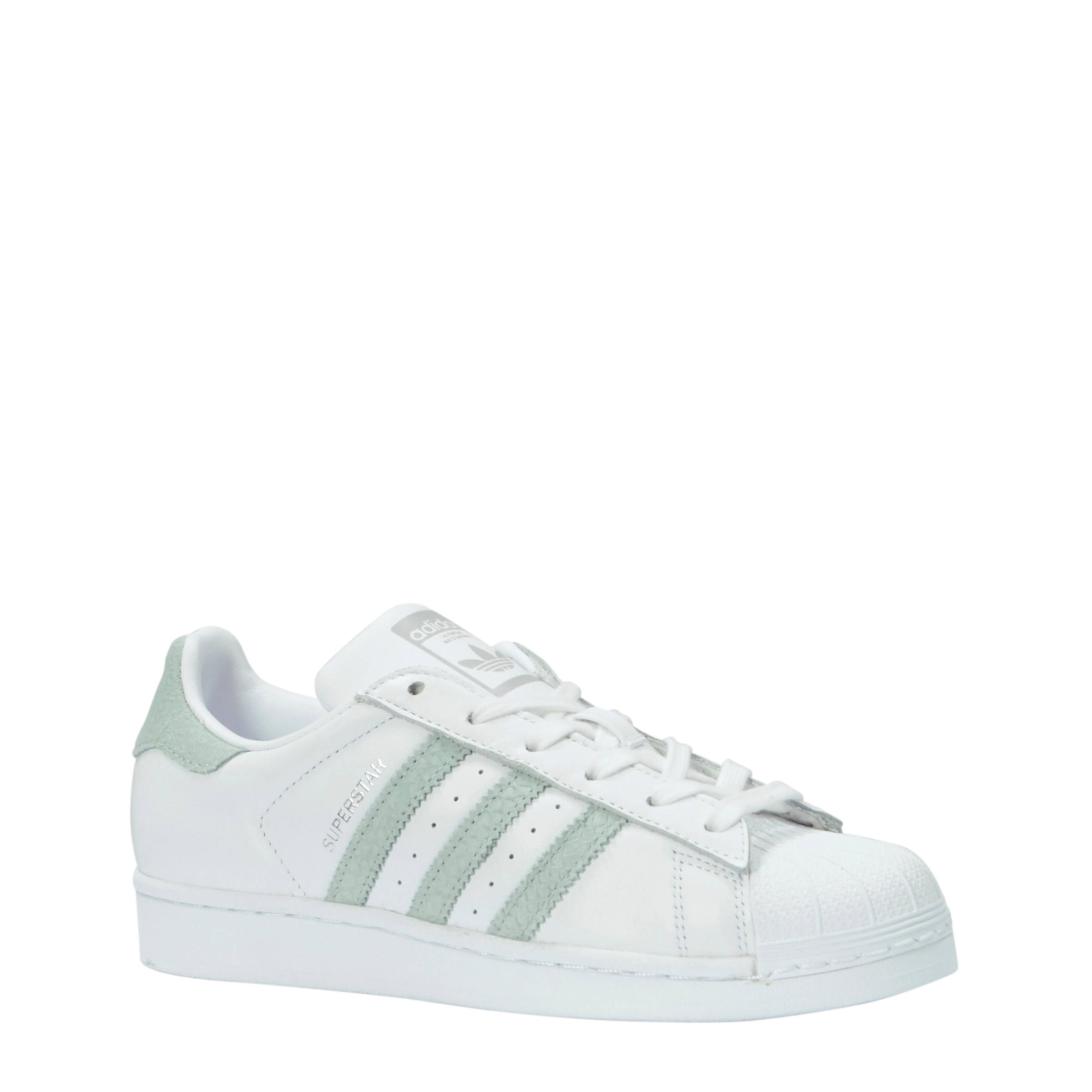 adidas superstar groen wit dames