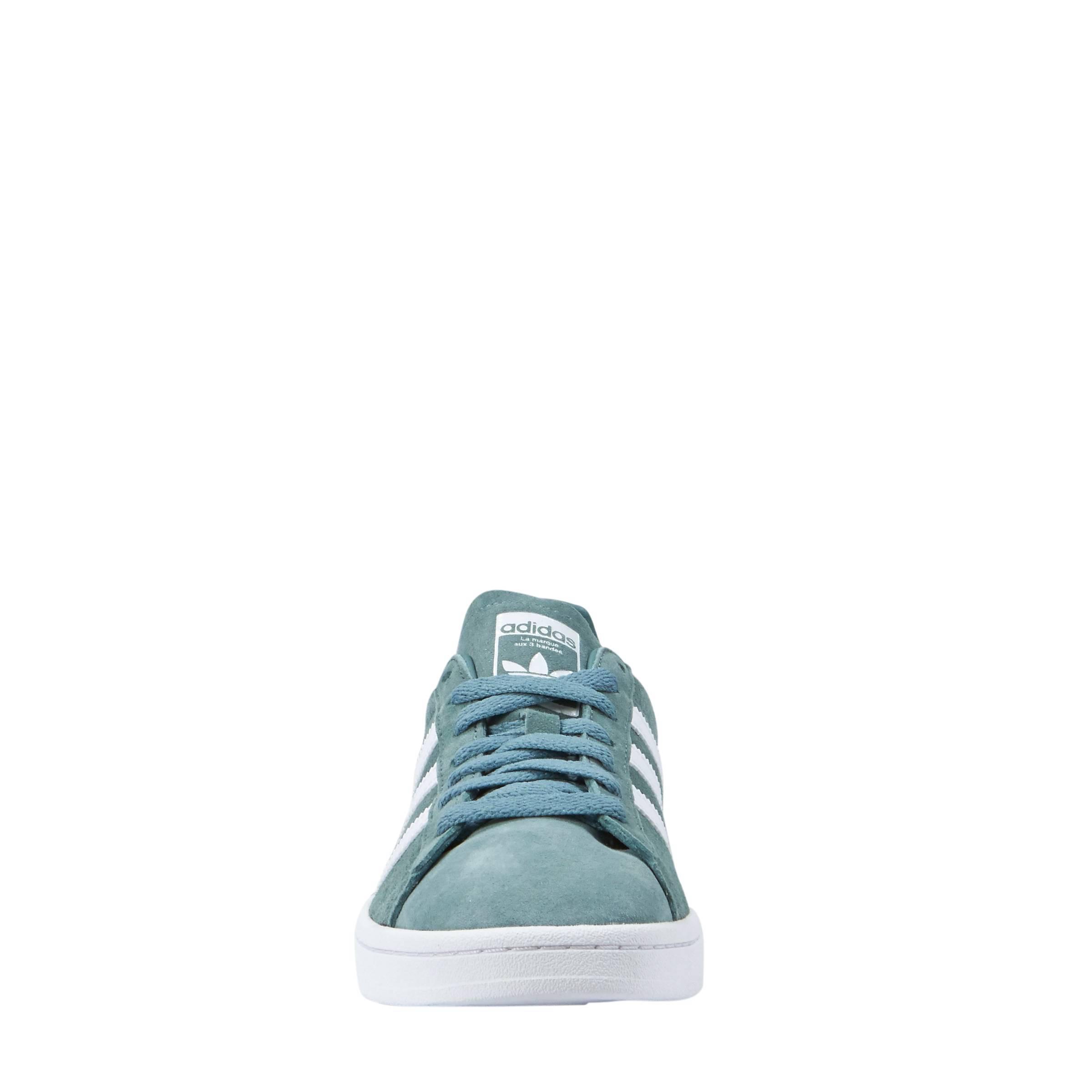 adidas Originals Campus suède sneakers groen | wehkamp