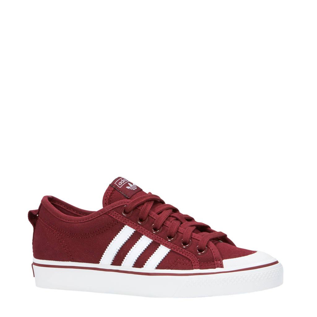 adidas originals  Nizza sneakers, Donkerrood/wit