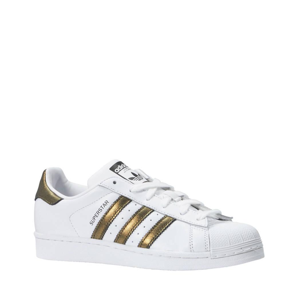 adidas originals  Superstar sneakers wit/goud, Wit/goud