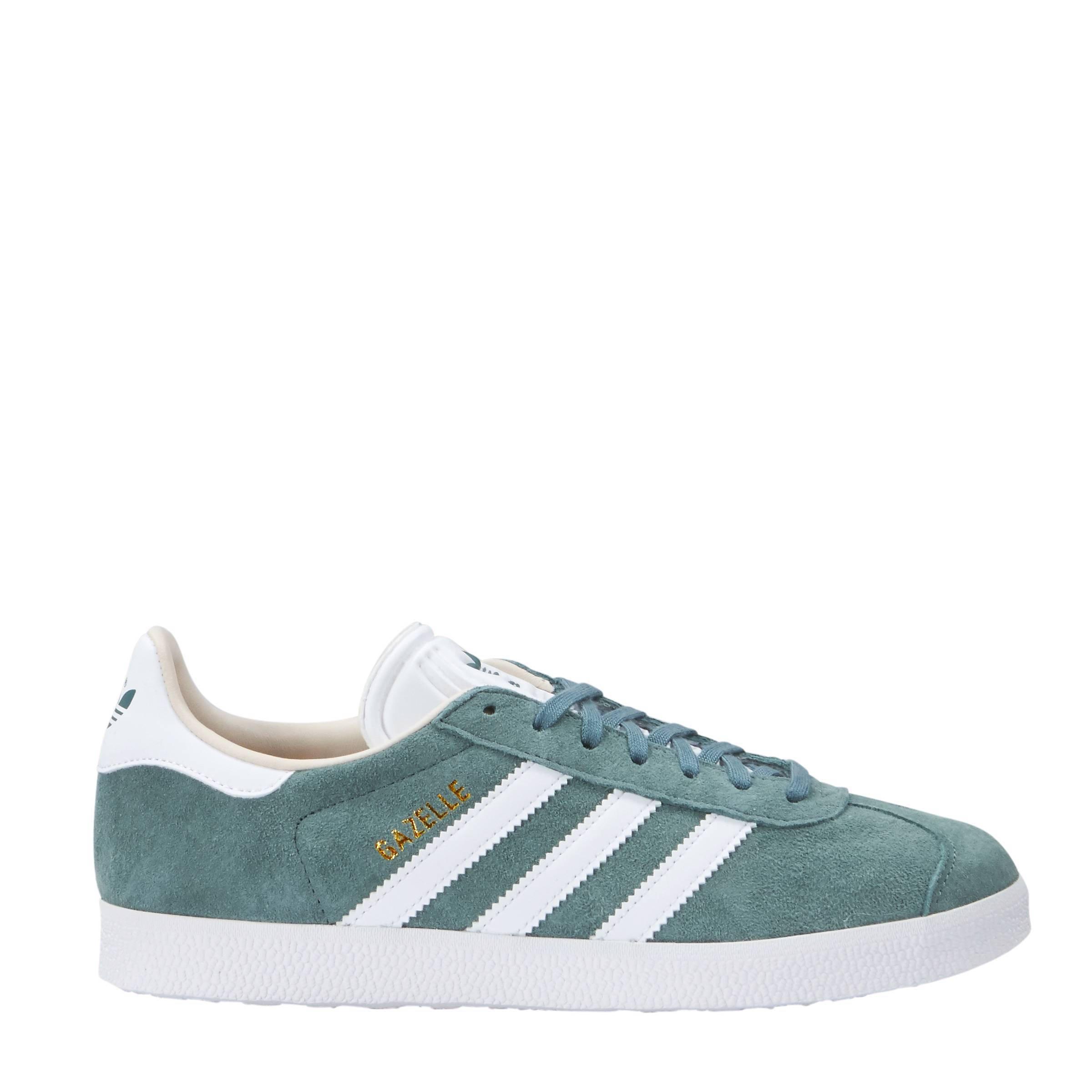 best website e1689 dcb0c adidas originals Gazelle sneakers groen  wehkamp