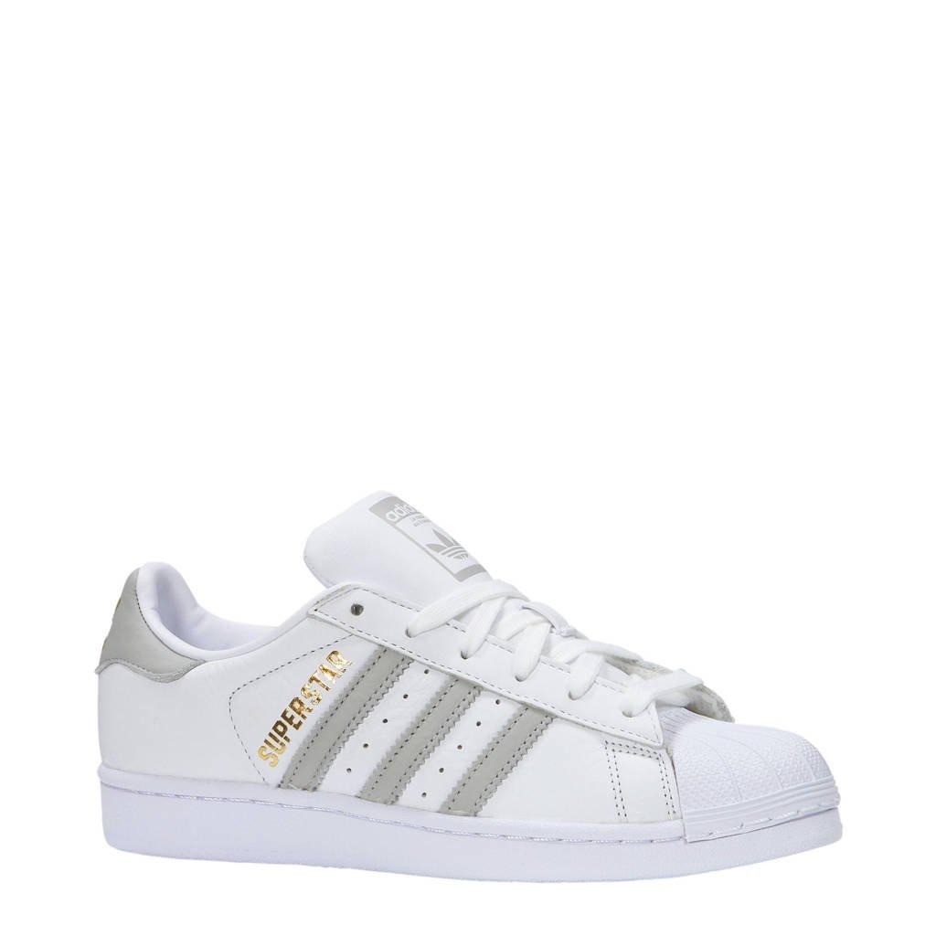 adidas originals  Superstar sneakers wit/goud, Wit/grijs