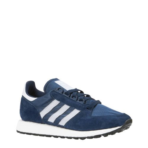 Forest Grove suède sneakers donkerblauw
