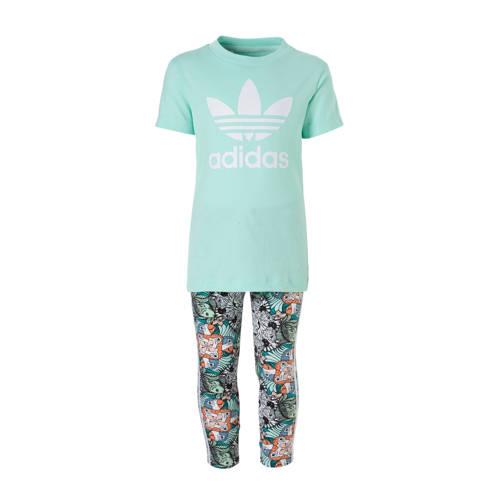 T-shirt + legging mintgroen