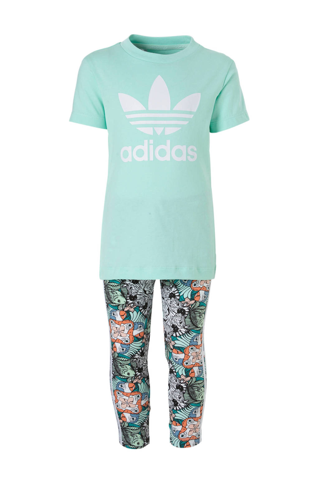 adidas originals T-shirt + legging mintgroen, Mintgroen
